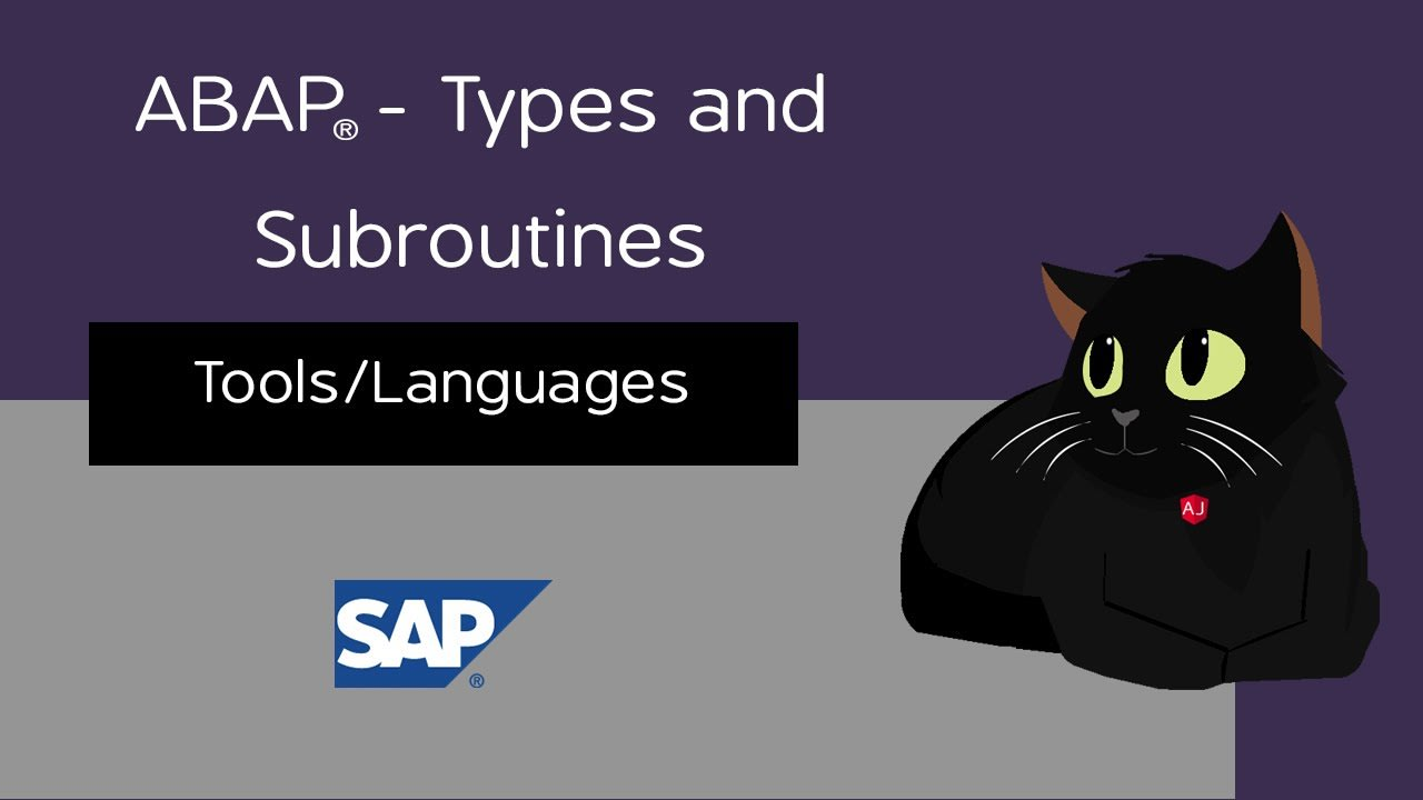 ABAP - Types and Subroutines